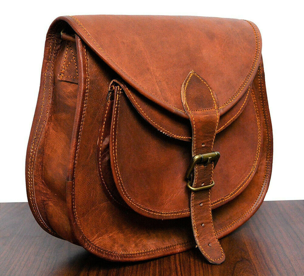 299bea6ad2e5 Details about New Ladies Vintage Handmade Leather Cross-Body Satchel For  Women Side Bag