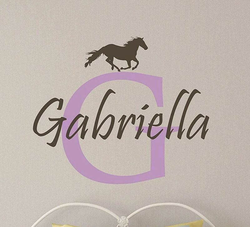 Personalized monogram horse decal sticker for Yeti cup tumbler water bottle