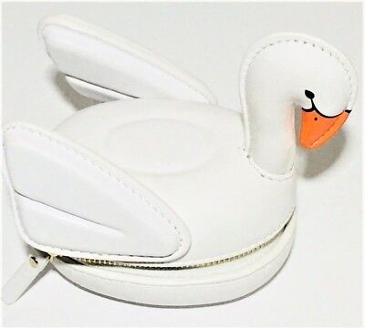 KATE SPADE Checking In 3D Swan Coin Purse PWRU6039 Limited Edition NWT