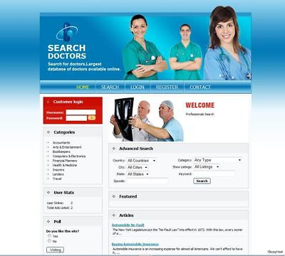 Doctor Service Search Directory Website Google Adsense. Make Money From Home.