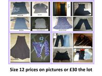 ladies clothes size 12 prices on pictures or £30 the lot 1 pair black next linen trousers BNWT