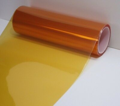 (Amber Orange Headlight Taillight Fog Light PVC Tint Overlay Vinyl Film 72