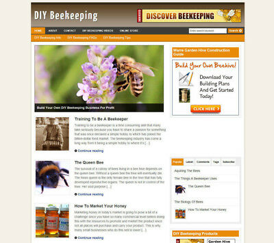 Bee Keeping Secrets Website Blog With Affiliate Store Banners New Domain