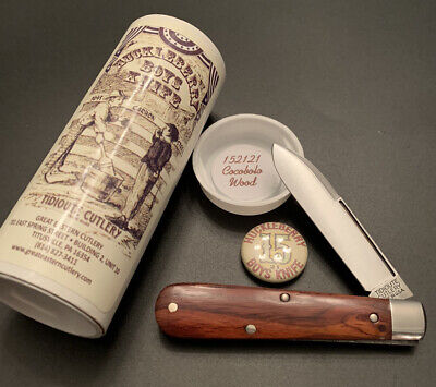 Great Eastern Tidioute #15 Cocobolo Wood Huckleberry Boys Knife 152121 GEC USA