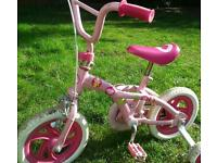 Barbie girls first bike with stabilizers