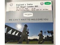 India v England at Trent Bridge on 12/07/18.