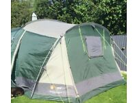 Mojave 5 man tent, high gear stove and Outwell collapsible storage cupboard and table