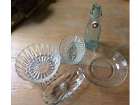 Selection of vintage glassware