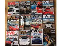 12 EVO car magazines 2011