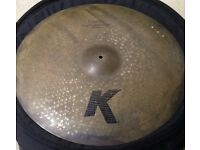 22 Zildjian K Custom Left Side Ride (3 rivets)