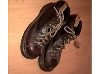 Genuine Brown Genuine Dr Martens Air Wair Leather Boots Size UK 7