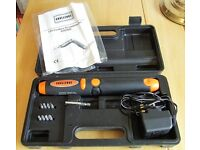 NOW REDUCED! POWER SCREWDRIVER KIT IN CASE - ALMOST NEW, ONLY £5!!!!
