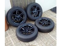 "14"" 4x100 Alloys with New Tyres 175/65/14 (Nissan, VW, Mazda, Honda, Vauxhall, Renault, Seat)"