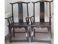 Chinese Official's Hat Chairs from the C19