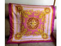 Pink shawl kerchief scarf