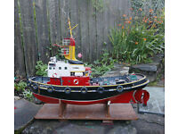 radio controlled model tug boat - Model was built from a kit many years ago but no longer works