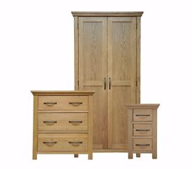 Arundel Oak Bedroom Furniture Set **Home Delivery Available**