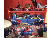 Spider-Man toy storage set with drawers