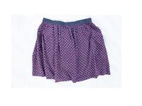 patterned mini skirt by la reroute / high waisted / Size: UK6 / F-E-P 34