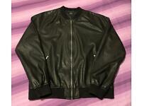 Men's XL Faux leather snakeskin effect jacket