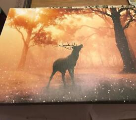 Large stag canvas