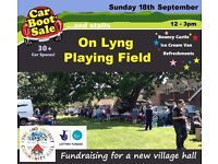 Lyng Car Boot Sale on Sunday 18th September 12-3pm