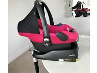 Maxi cosi car seat pink berry & Iso fix family base