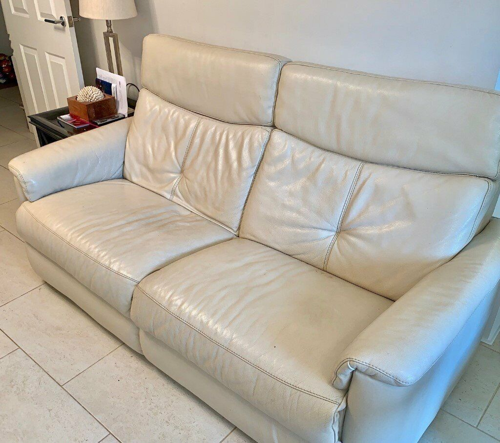 Astounding Cream Leather 3 Seater Sofa Purchased From Furniture Village In Peacehaven East Sussex Gumtree Gmtry Best Dining Table And Chair Ideas Images Gmtryco