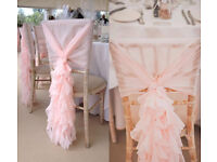 Wedding Venue Decoration Chair Cover Hire Rent + Sash 50p Mirror Plate Fish Bowl Many Vases..Set-up