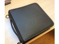 240 Sleeve CD DVD Blu Ray Disc Carry Case Holder Bag Wallet Storage Black Leather effect