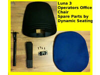 OFFICE CHAIR SPARE PARTS - LUNA 3 BLUE DYNAMIC SEATING - ROUND BACK OPERATORS CHAIR - SPARE PARTS
