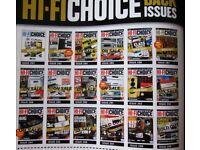 HI-FI CHOICE HI-FI NEWS HI-FI WORLD MAGAZINES 1990 TO 2017 ON SALE