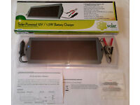 1.5 Watt Solar Panel Trickle Charger £10! For 12V Batteries In Cars Motorbikes Projects Experiments