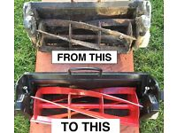 LAWNMOWER CYLINDER CASSETTE SHARPENING ALL MAKES (not unit for sale)