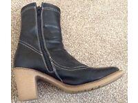 NINE WEST Black Heel Boots - Size 4