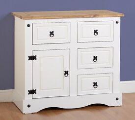 New Corona small sideboard in white grey or cream