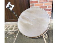 80 cm Hi-Gain Satellite Dish with twin Astra Duoblock and wall mount brackets