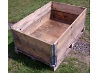 PALLET CRATE SYSTEM WOODEN - IDEAL RAISED PLANTER, COMPOSTER, LOG STORE, BULK STORAGE BOX (1 of 2)