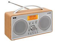 BRAND NEW LOGIK L55DAB15 Portable DAB+/FM Clock Radio