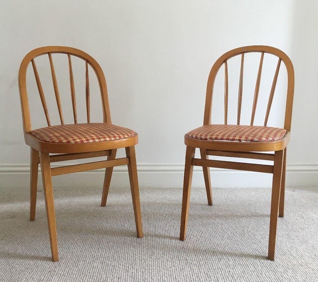 Pair of Original 1950u0027s Kitchen Chairs & Pair of Original 1950u0027s Kitchen Chairs | in Oxford Oxfordshire | Gumtree
