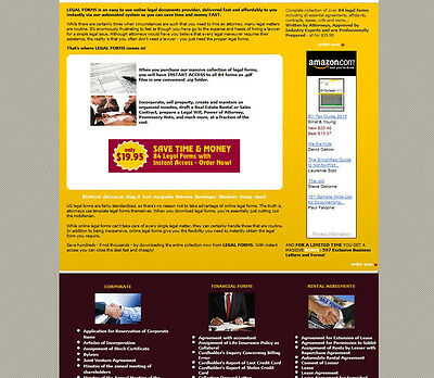 Legal Forms Business Website For Sale. Google Adsense Amazon Revenue.