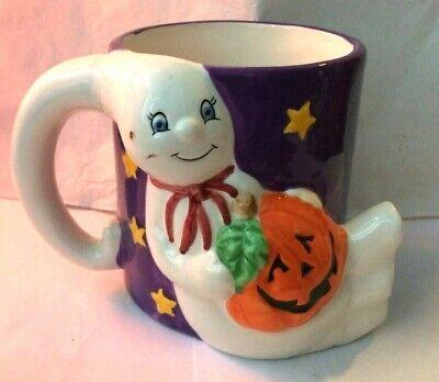 Hallmark Rare Halloween Mug Pumpkin Ghost Mug Gift Happy Halloween Mug