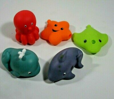 Very Cute Squirting Sea Creatures with Faces Bath Set of 5 Squirters](Cute Squirt)