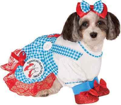 Dorothy Wizard of Oz Movie Cute Fancy Dress Up Halloween Pet Dog Cat Costume