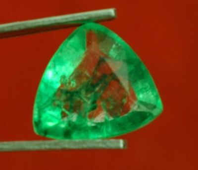 9.2x8.8mm (2.30cts) TRILLIANT-FACET CERTIFIED NATURAL (GGL) COLOMBIAN EMERALD