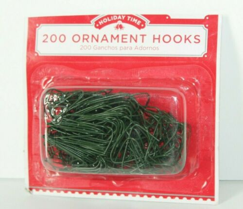 """Green Holiday Time 200 1"""" Ornament Hooks Christmas Tree Decoration Wire Hangers"""