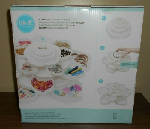 American Crafts ~ We R Memory Keepers ~ Bloom Embellishment Storage, White