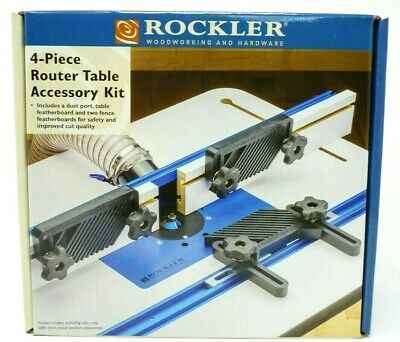 Rockler 4-piece Router Table Accessory Kit - Free Expedite Shipping 1-3 Days