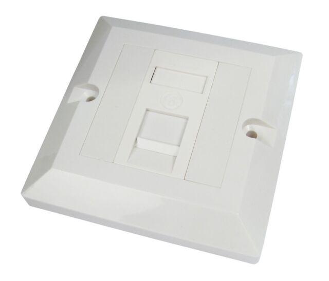 RJ45 Face Plate Wall Socket Cat6 Ethernet Single Gang 1 Port with Keystones