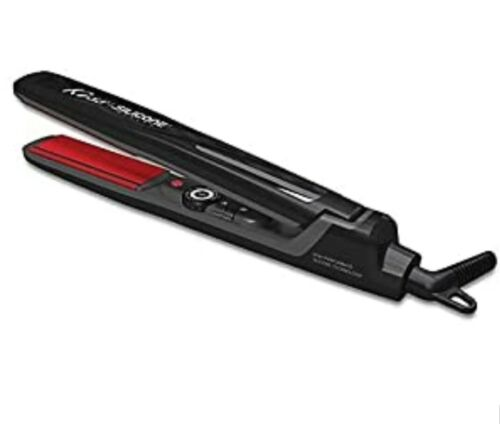 Kiss Products Red Silicone Flat Iron, 0.5 Inch, 1 Pound